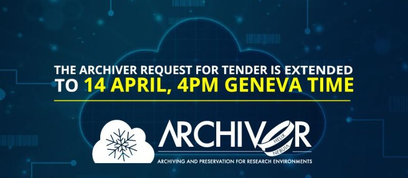 Bids for the ARCHIVER PCP tender to be submitted until 14 April