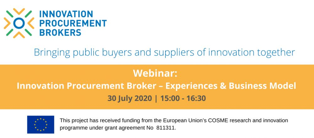 Procure2Innovate and InnoBrokers cooperate in an online seminar next July 30